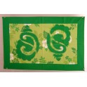 Tifaifai rectangle 40-60cm Coquillages Vert fond Vert