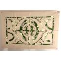 Tifaifai rectangle 40-60cm Union Gris clair fond Vert foncé gris