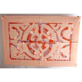 Tifaifai rectangle 40-60cm Union Saumon fond Orange