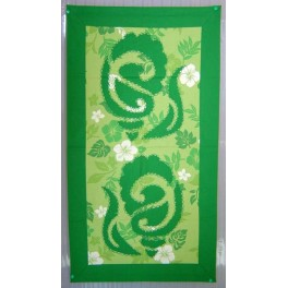 Tifaifai rectangle 40-70cm Coquillages Vert fond Vert