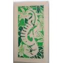 Tifaifai rectangle 40-70cm Hippocampe Blanc fond Vert blanc