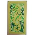 Tifaifai rectangle 40-70cm Hippocampe Vert amande fond Vert blanc