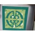 Tifaifai Carre 50cm Union Vert foncé fond Vert