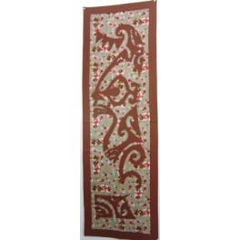 Tifaifai rectangle 50-150cm Tiki Chocolat fond Marron rouge