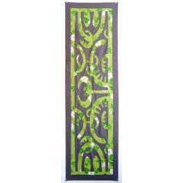 Tifaifai rectangle 50-150cm Matahoata Gris foncé fond Vert