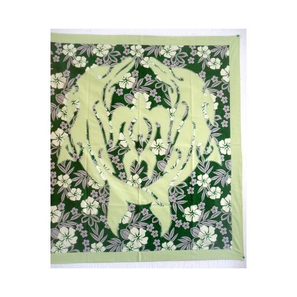 dessus de lit b b vert gris tenture patchwork dauphins tortue. Black Bedroom Furniture Sets. Home Design Ideas