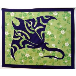 Couvre lits patchwork, dessus de lits, rideaux, tenture - Raie Bleu