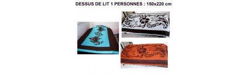 Vente de dessus de lit couvre lit pour lit 1 personne 150 220cm sur deco polyn - Dessus de lit une personne ...