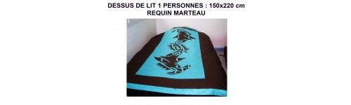 vente de dessus de lit 150 220cm requins marteaux sur deco polyn deco polynesienne. Black Bedroom Furniture Sets. Home Design Ideas