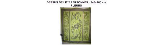 vente de dessus de lit 240 260cm fleurs sur deco polyn deco polynesienne. Black Bedroom Furniture Sets. Home Design Ideas