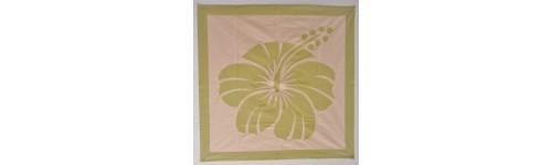vente de tifaifai carre hibiscus 80cm sur 80cm sur deco With déco chambre bébé pas cher avec infusion fleur hibiscus