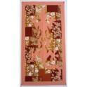 Tifaifai rectangle 60-110cm Lézard Corail fond Beige blanc noir