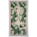 Tifaifai rectangle 60-110cm Lézard Gris clair fond Vert foncé gris