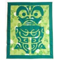 Tifaifai rectangle 70-85cm Tiki Vert foncé fond Vert